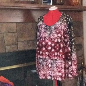 New York Collection Blouse 2X